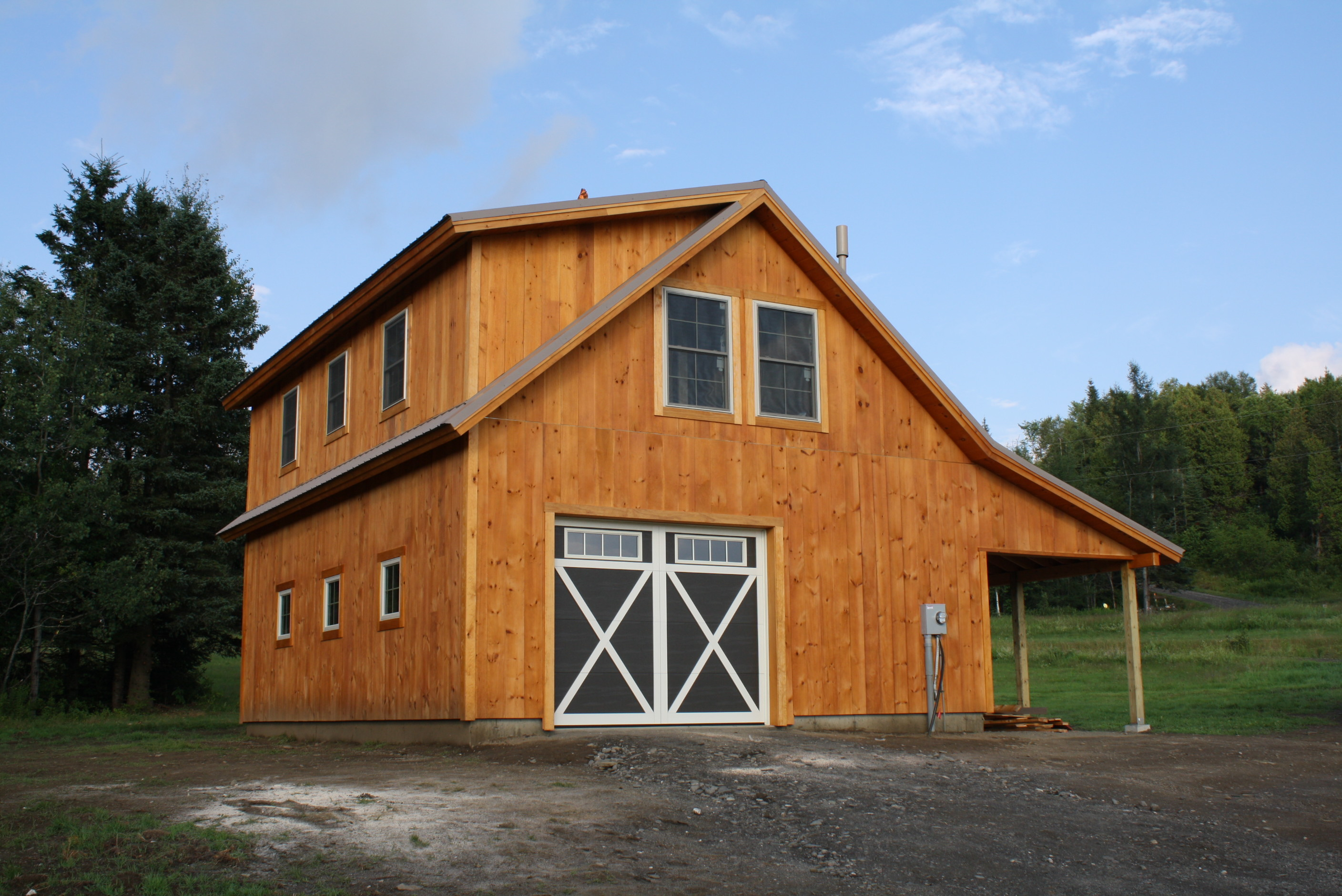 Custom conventionally framed barn clarksville nh for Custom barn homes