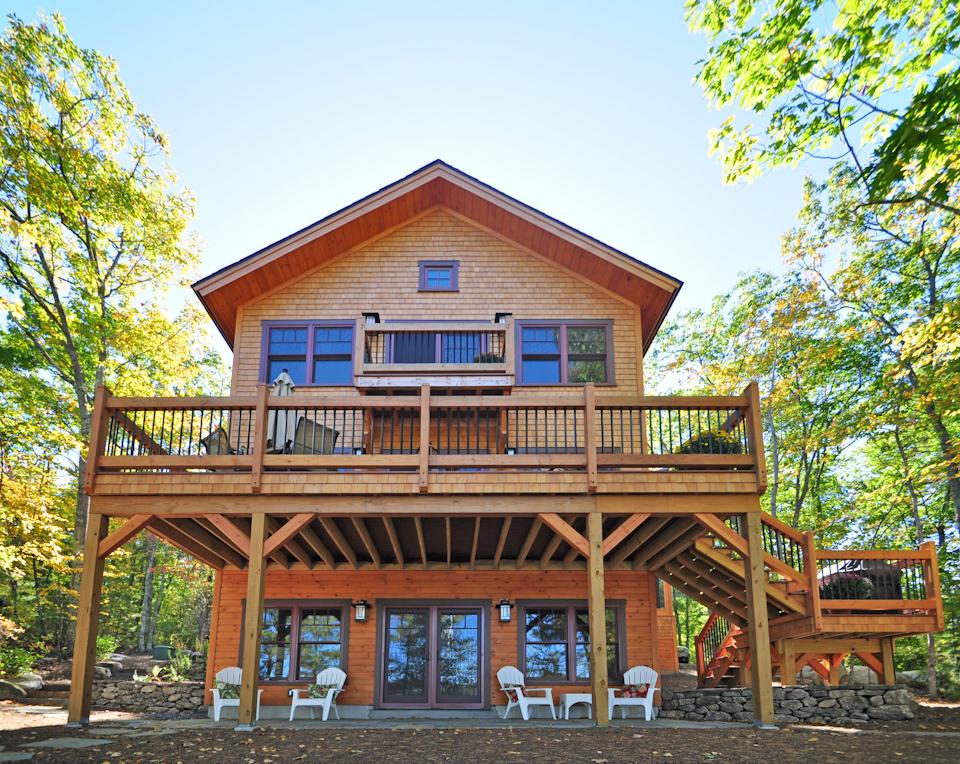 Merrymeeting Lake Nh Private Timber Frame Residence