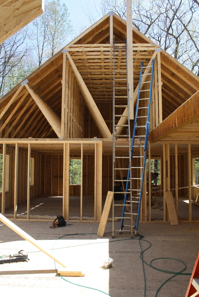 Private residence moultonboro nh hayward and company for Pre manufactured trusses