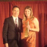 Julie Hayward accepts 2012 Builder of Year Award