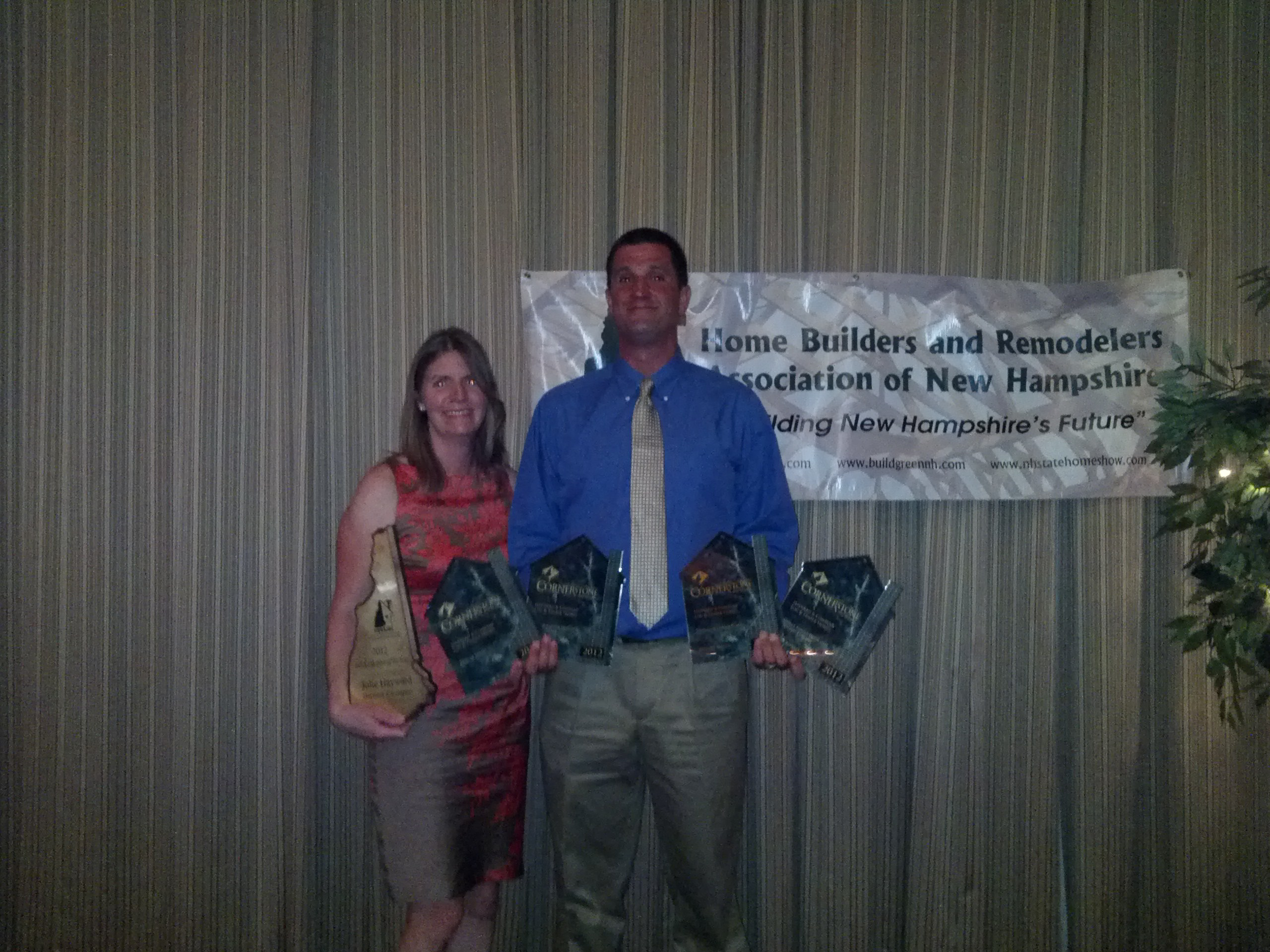 Mike and Julie Hayward with awards